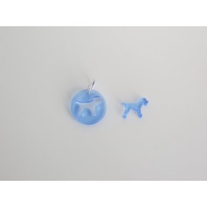 Dog Collar Accessories - Acrylic Border Terrier Tag