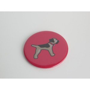 Red Metal Border Terrier Compact Pocket Mirror