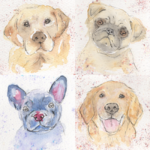 Full Dog Collection Giclée Print