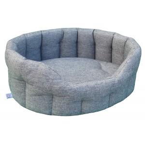 Heavy Duty Oval Drop Fronted Basket Weave Softee Dog Bed