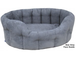 Heavy Duty Oval Drop Faux Suede Softee Dog Bed