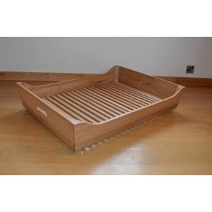 Solid Oak Dog Bed Frame | Large