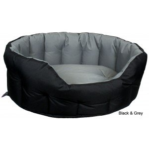 Heavy Duty Oval Drop Fronted Waterproof Softee Dog Bed
