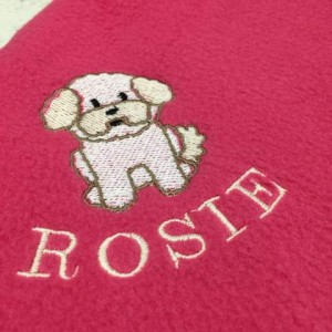 Personalised Fleece Dog Breed Blanket