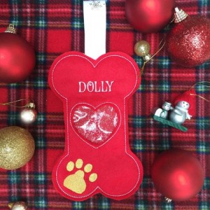 Christmas Bone Treat Bag