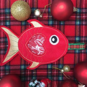 Christmas Fish Treat Bag