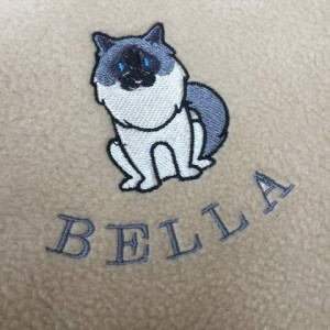 Personalised Fleece Cat Breed Blanket