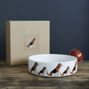 Beagle Mischievous Mutts Dog Bowl (Large)