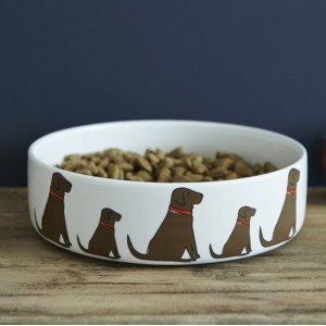 Chocolate Labrador Mischievous Mutts Dog Bowl (Large)