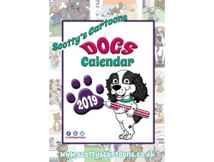 Large 2019 Scotty's Cartoons DOGS Calendar