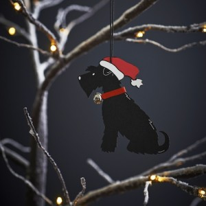 Black Schnauzer Christmas Tree Decoration
