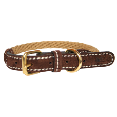 The Corde Collar - Yellow & Chocolate Brown