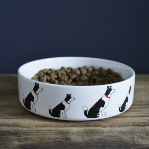 Border Collie Mischievous Mutts Dog Bowl (Large)