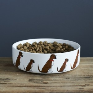 Boxer Mischievous Mutts Dog Bowl (Large)