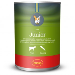 Junior Puppy Pâté Food  | Husse