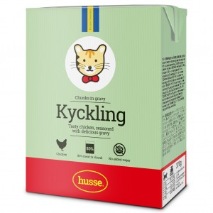 Chicken in Gravy (Kyckling) For Cats | Husse
