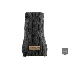 Aspen Grey Classic Dog Jumper By Bowl & Bone