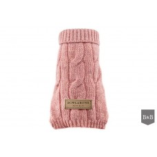 Aspen Pink Classic Dog Jumper By Bowl & Bone
