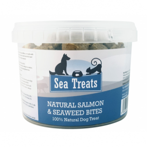 Natural Salmon and Seaweed Bites 200g Tub | Sea Treats