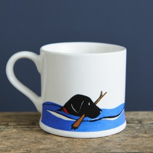 Black Labrador Mug (Swimming)