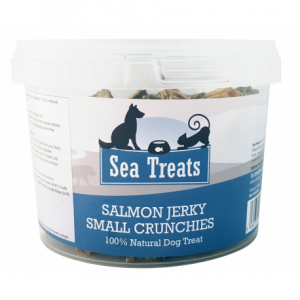 Salmon Jerky Small Crunchies 150g Tub | Sea Treats