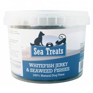 Whitefish Jerky and Irish Seaweed Fishies 150g Tub | Sea Treats