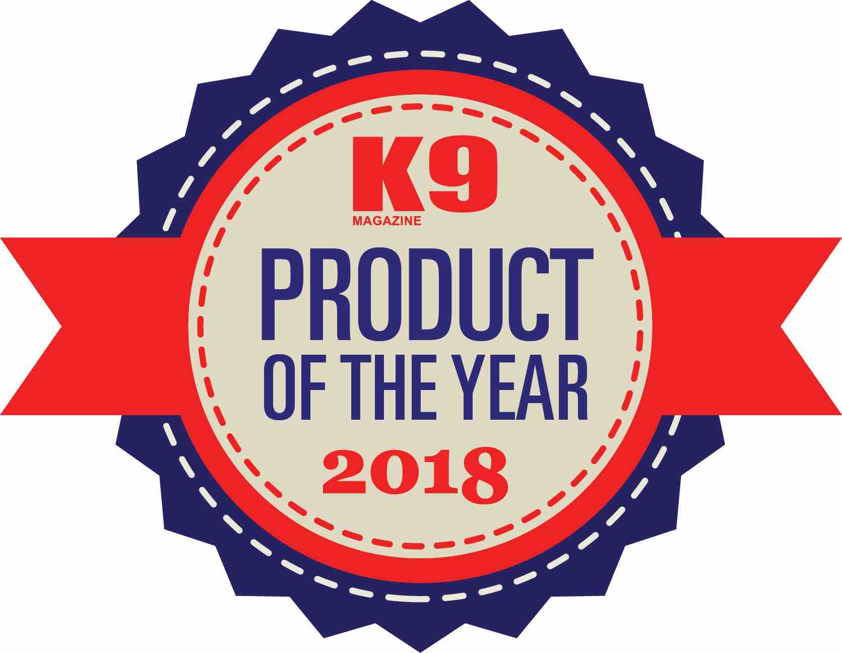 K9 Magazine Award Logo 2018 Best Dog Products Badge