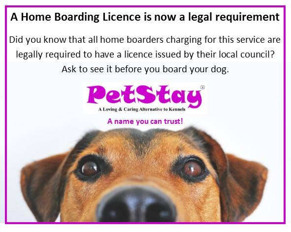 Petstay only use licensed and insured carers