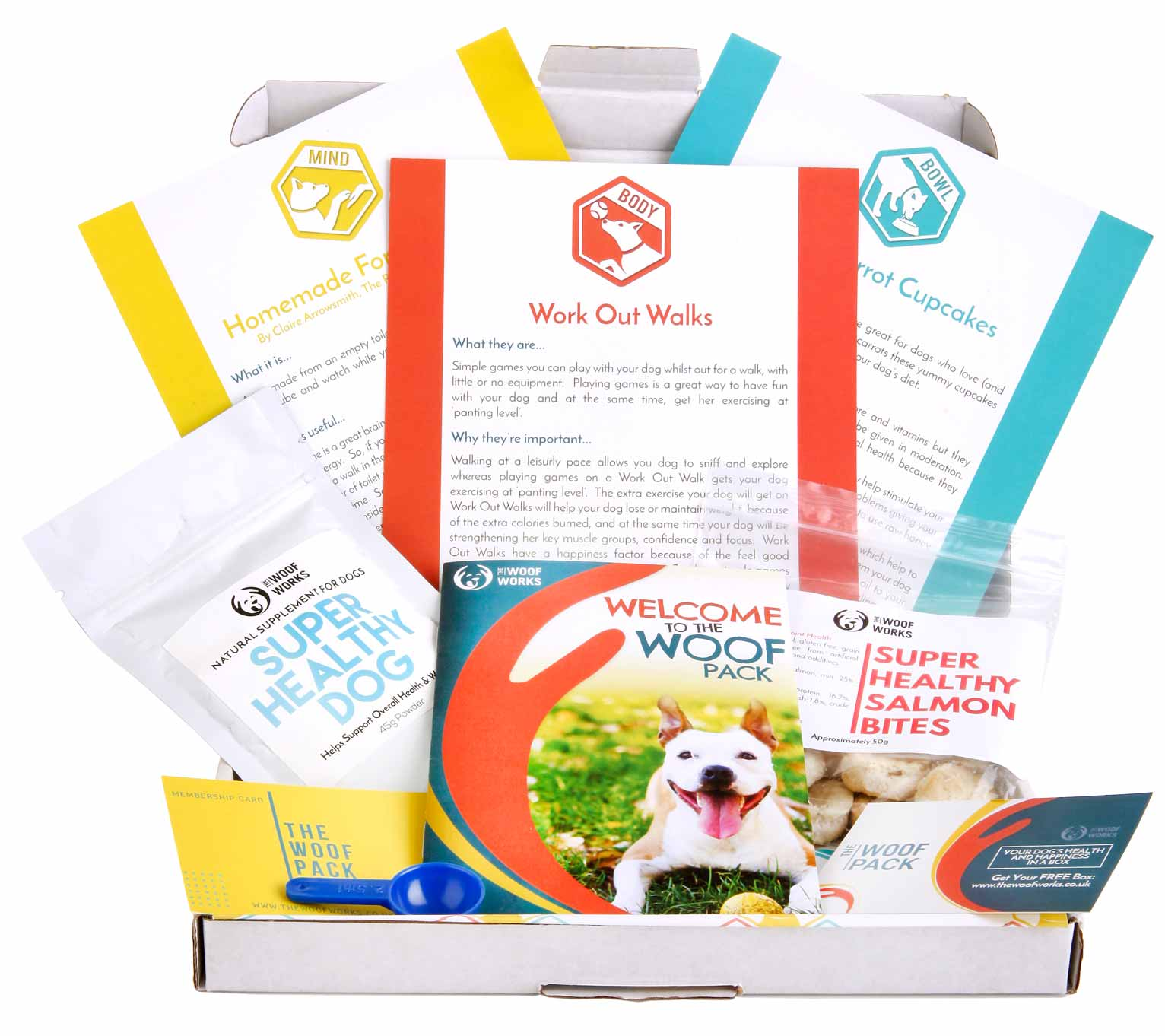 The Woof pack box from the woof works