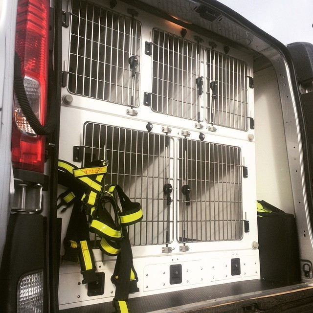 4 Compartment Dog Van Conversion With Storage