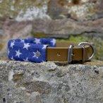 Denim Stars x Leather Dog Collar