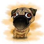 Pug Dog Caricature