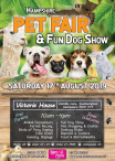 Hampshire Pet Fair & Fun Dog Show - Sat 17th Aug