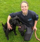 Laura with her Labrador Gunner