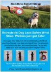 Handfree Safety wrist Strap for your Retractable Dog Lead