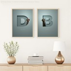 Oh So Portraits | Pets in Letters| Daisy and Bruce |Room set