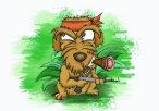 Terrier Cross Dog Caricature