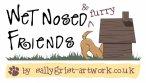 Wet nosed friends business logo