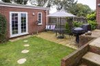 Safe dog friendly private garden at Broads Reach