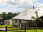 Exterior of Rack Hays Barn