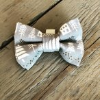 Grey Town Christmas Bow Tie