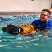 Hydrotherapy with a Cockaspaniel