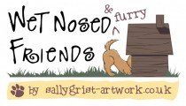 Wet nosed friends business logo